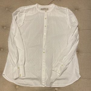 Loft White Button Down
